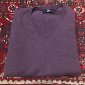 95% Cotton 5% Cashmere V Neck Sweater J.Crew M EUC